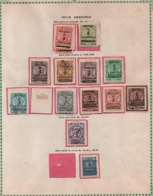 PARAGUAY: 1905-1908 Examples - Ex-Old Time Collection - Album Page (21238)