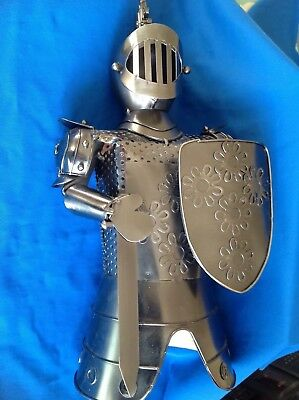 Vintage Steel Suit Of Armour Wine Bottle Cover