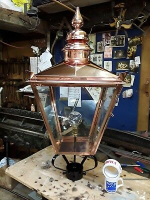 """Extra Large 42"""" Victorian style copper Lantern  lamp top for post outdoor"""