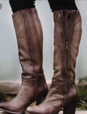 397ad5c196 FREEBIRD by Steve Madden Women's Beau Boot Tall Leather boot Stone Sz 6  $350 NEW