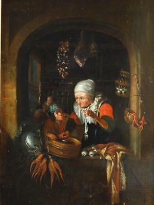 FINE 17th CENTURY OIL ON PANEL GERRIT DOU 1613-1675 circle  Antique Oil Painting