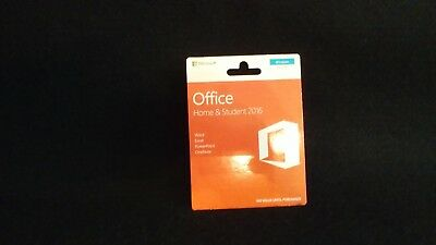 Office Home & Student 2016, Key Card, Microsoft, Word, Excel PowerPoint, OneNote