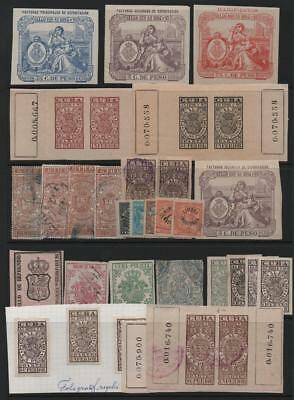 SOUTH AMERICA: Used/Unused Revenues- Ex-Old-Time Collection - Album Page (21150)