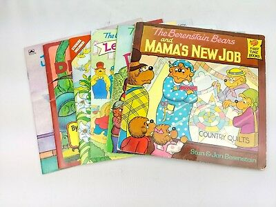 The Berenstain Bears Book Lot With Stickers Kids Young Children Books Easter