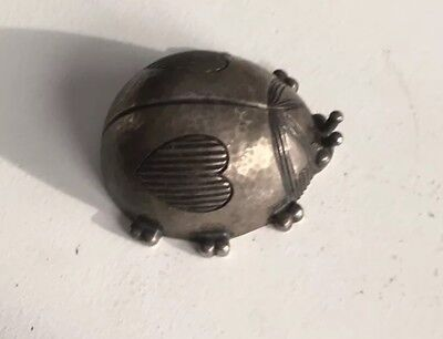 Adorable Reed & Barton Silverplate  Figural Lady Bug Plays You Are My Sunshine