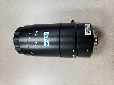 Navitar Machine Vision Camera Lens 25mm .- 6mp resolution