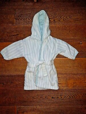 Mothercare Boys Lovely Hooded Dressing Gown 3/6Months
