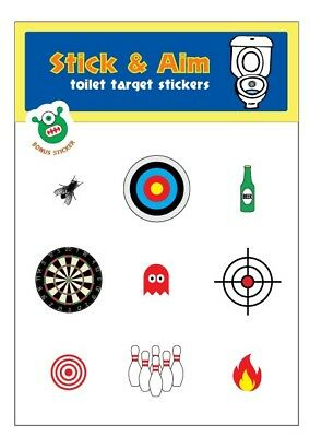 Toilet Target Stickers - Stick & Aim (Perfect for Potty Training + Bars & Clubs)