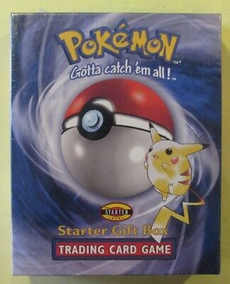 Factory Sealed 1999 Pokemon Trading Card Game Starter Gift Set Set Box