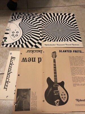 1968 Rickenbacker guitars and amps catalogs plus flyers, more Big LOT