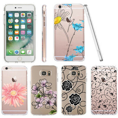case for for Samsung Galaxy S9 back silicone flower patterns