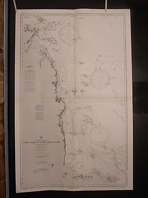 WWII Nautical Chart 3464 East AUSTRALIA Cape York To Cape Grenville 1st ED