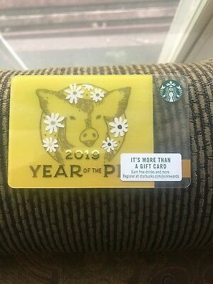 New Starbucks Chinese New Year 2019 Gift Card Year of The Pig