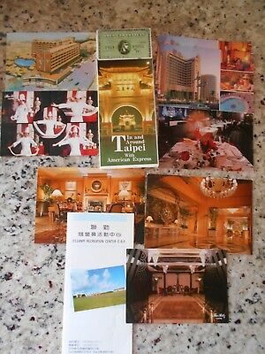 Taipei City Map & Taiwan Hotel Postcards - Unposted (Circa 1992) Lot of 10