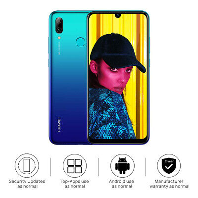 "New Huawei P Smart 2019 Blue 6.21"" 64GB LTE Octa Core Android 9.0 Sim Free UK"