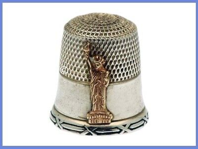 Sterling Silver Thimble Statue of Liberty *C.1986