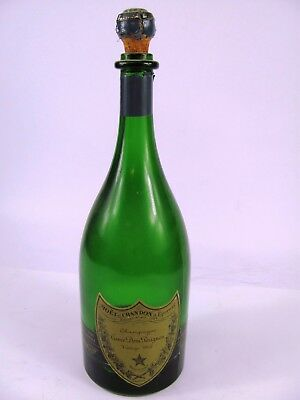 Dom Perignon Champagne Bottle - Empty - Vintage 1962 - Imported with Cork