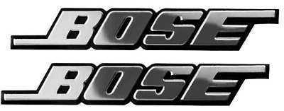 2Pcs Self Adhesive 3D Bose Car Audio Speaker Aluminium Badge Sticker Emblem