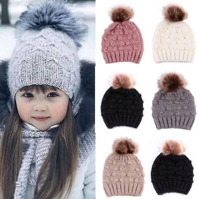 Cute Toddler Kids GirlBoy Baby Infant Winter Warm Crochet Knit Hat Beanie Cap