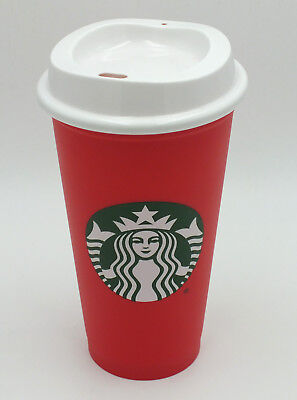 Starbucks 2018 Holiday Cup Red Grande Reusable 16 oz Christmas Discount Limited