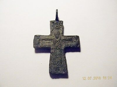 Byzantine Bronze Cross With the Risen Christ 12th to 14th Century