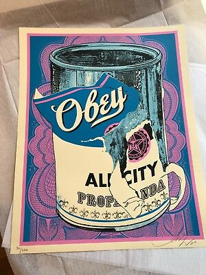 All City Propaganda Soup Can Iv Obey Giant Shepard Fairey Print - Signed / #200