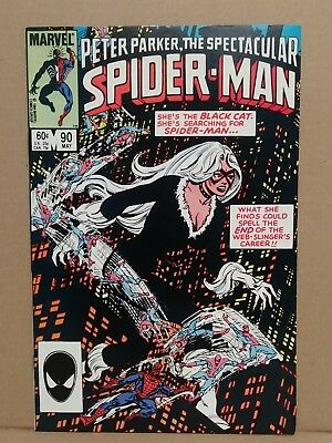 Peter Parker The SPECTACULAR SPIDER-MAN #90 (1984) 1st Black Costume in Title