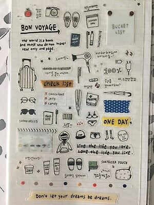 Travel Note PVC stickers tea Holiday Paris Travelling Scrapbook Cardmaking diy