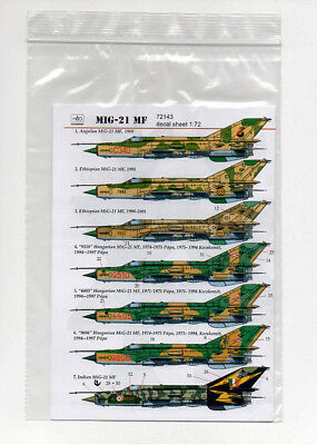 HAD Models MIG-21 MF 1/72 decals