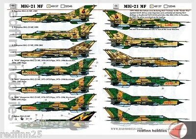 HAD Models MIG-21 MF 1/48 decals