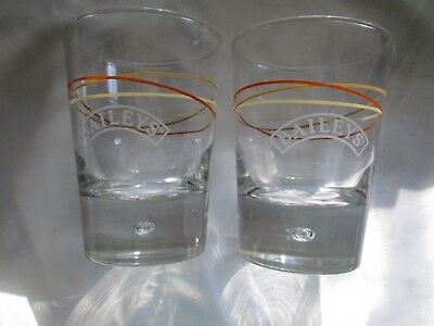 Baileys Rocks Glasses Bubble Swirl Pattern Set of 2
