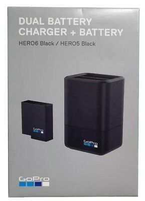 NIB GoPro Dual Battery Charger with Battery for HERO5 & HERO6 Black