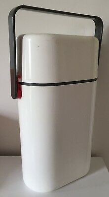 Vintage Retro Decor BYO Insulated 2 x Bottle Wine Cooler Carrier Holder - White