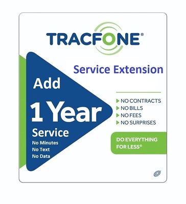 TracFone Service Extension 1 Year/365 Days Android Samsung LG Only