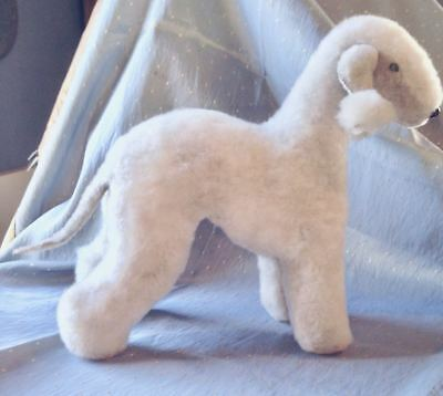 Sale!! Fine Art Bedlington Terrier Soft Sculpture - Each Artist Hand-Made