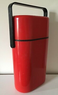 Vintage Retro Decor BYO Insulated 2 x Bottle Wine Cooler Carrier Holder - Red
