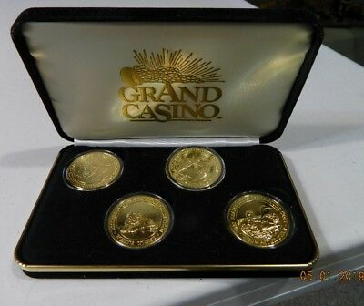 Grand Casino Collector Coins 2000: white tiger, Swan, whale, baby seal  NIB