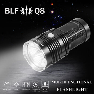 BLF Q8 5000LM Professional Multiple Operation Super Bright LED Flashlight Torch