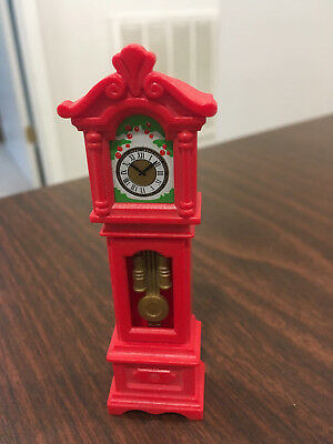 Vintage 1989 Playmobil Grandfather Clock Red