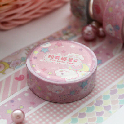 1.5 cm Lovely Pink Unicorn Washi Tape Journal Sky Cartoon Adhesive DIY Sticker