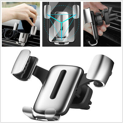 Creative Car SUV Interior Gravity Linkage Mobile Phone Bracket AC Outlet Holder