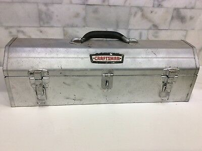 """Vintage Sears Craftsman Tool Box Hip Roof Tombstone 19.5""""x 6""""x 6"""" With Tray"""