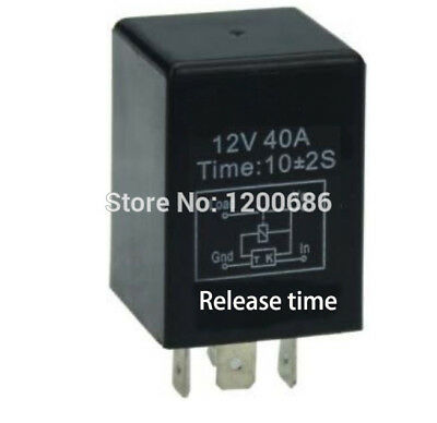 Automotive 12V Time Delay Relay SPDT 10 Second Delay Release Off Relay 10 Mini
