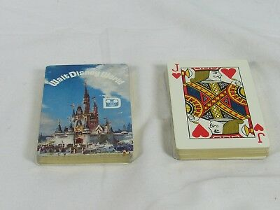 Walt Disney World 1970's Playing cards with Gold Trim in Plastic Case