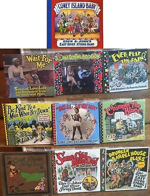 13 CD LOT R. Crumb Cover CONEY ISLAND BABY EAST RIVER STRING BAND $170 VALUE!!