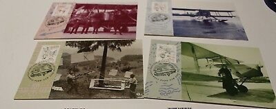 Mint 1994 Aviation Feats Stamp Maxi Card Set Of 4