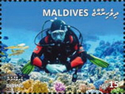 Z08 MLD1801local03a Maldives 2018 Diving MNH ** Postfrisch