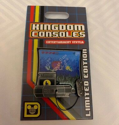 Disney Kingdom Consoles Little Mermaid Ariel Video Game Pin LE 4000 POTM System