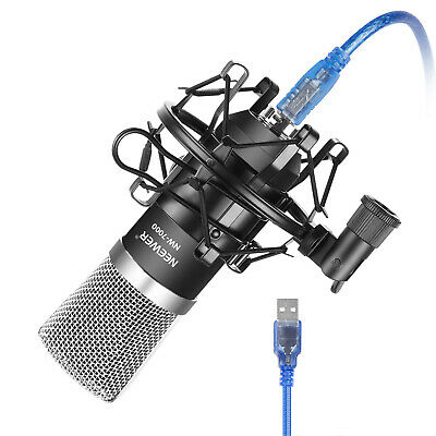 Neewer Black NW-7000 USB Condenser Microphone with Shock Mount Kit for Recording