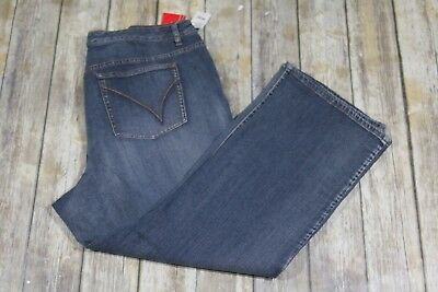 NWT Venezia Stretch Bootcut Jeans Womens 6P 6X 30 Petite Light Wash Lane Bryant